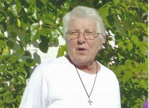 Sr. Justina Prieß bei Ihrem letzten Besuch in Auerbach (Foto G. Kuch)