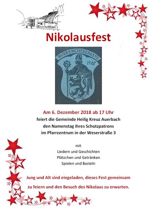 Nikolausfest 2018 Plakat